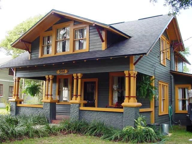 This Would Be The Perfect House! 1920 Arts And Crafts Bungalow And 1925  Mediteranian Revival Built In The Craftsman Style.