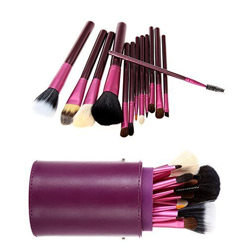 douself®13pcs Professional Makeup Brush Set Cosmetic Brushes Kit Make up Tool with Cup Holder Case Including Foundation Brush, Eyeshadow Brush, Eyebrow Brush, Lip Brush, Concealer Brush (Purple), http://www.amazon.co.uk/dp/B00LX0AAJM/ref=cm_sw_r_pi_awdl_jkPnwbBNFBNVN