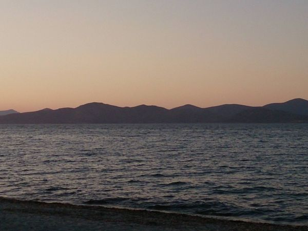 Almost dark at Tigaki beach