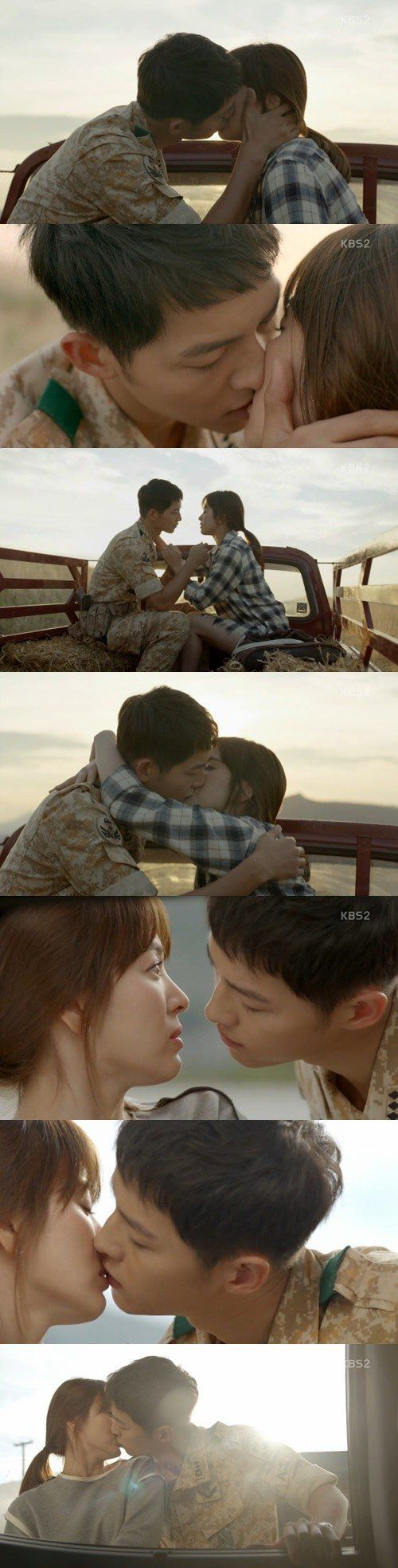 """Descendants of the Sun"" Song Hye-kyo and Song Joong-ki kiss and percentage finally reaches 30%"