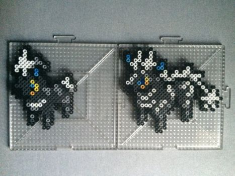 #522-#523 Blitzle and Zebstika Perlers by TehMorrison