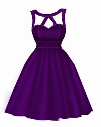 Dark purple rockabilly dress by blueberryhillfashions.com