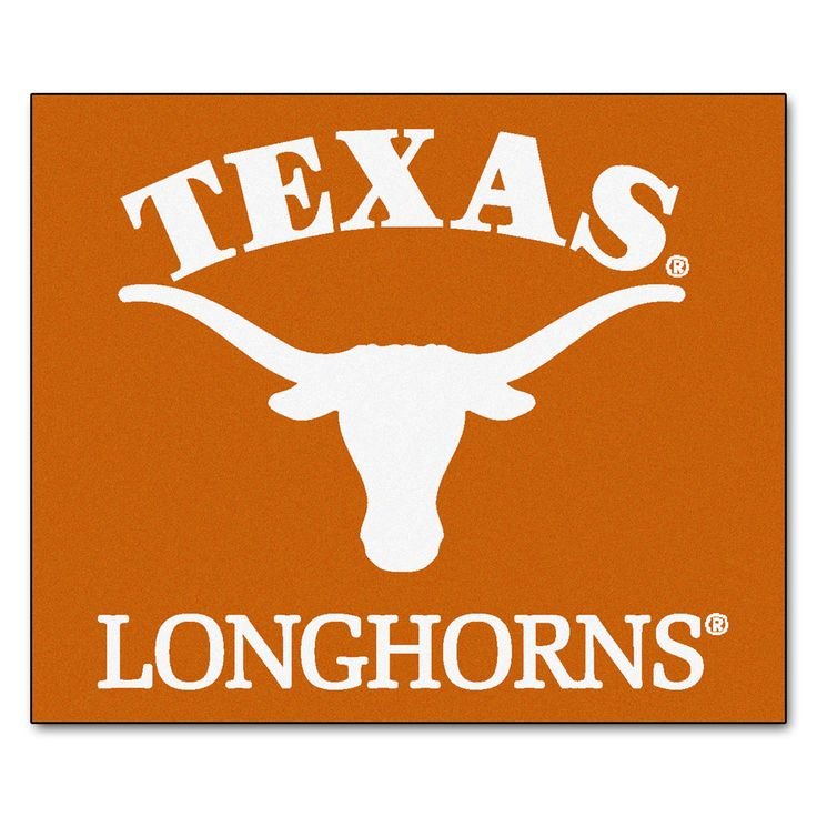 Texas Longhorns Orange Tufted Area Rug Texas longhorns