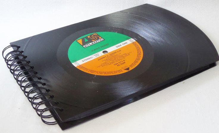 FOTOALBUM, JUDAS PRIEST  Fotobuch Schallplatte von VinylKunst Aurum - Schallplatten Upcycling der besonderen ART auf DaWanda.com