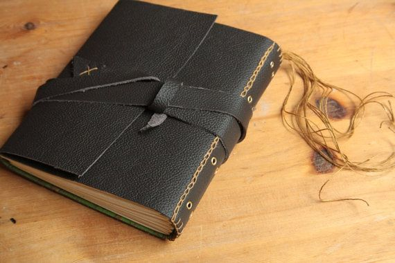 DIY Leather Journal Kit Limp Binding  by buechertigersupplies, €44.80