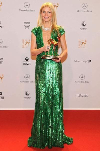 Дита фон тиз в вечернем платье на премии вручения