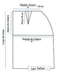 Resultado de imagen de faldas patrones lapiz con pretina ancha