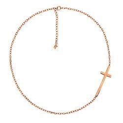 Folli Follie, Rose Gold Carma Cross Necklace £50