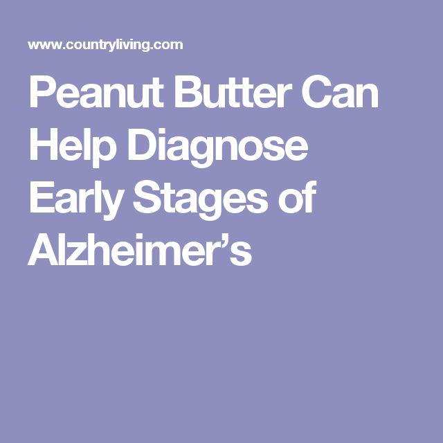 Peanut Butter Can Help Diagnose Early Stages of Alzheimer's