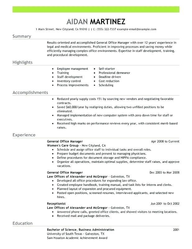 Sample Office Manager Resume Office Manager Resume Manager
