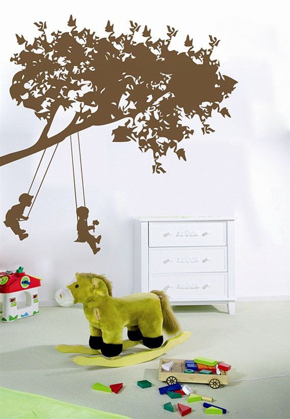 Boys Are Playing on the Swing Wall Sticker – WallStickerDeal.com