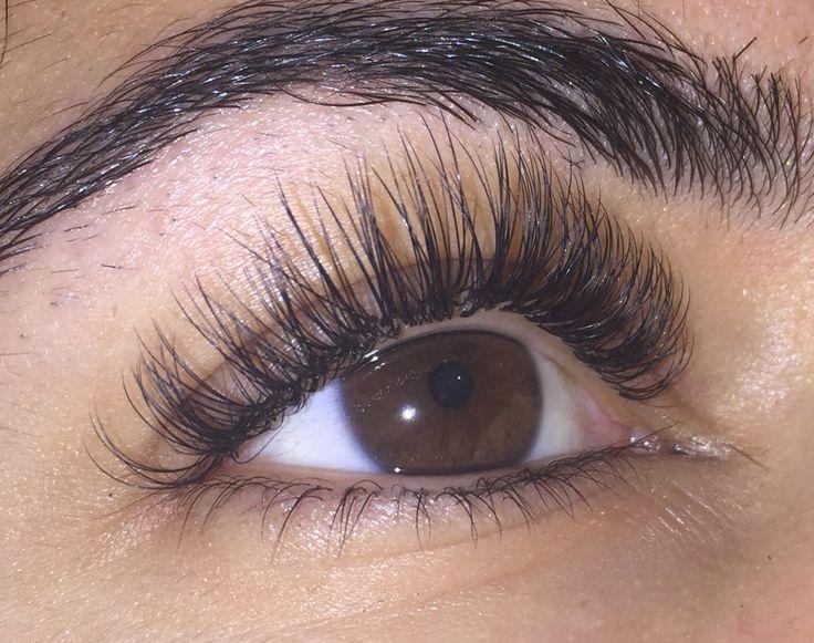 2D Russian volume eyelash extensions - by saharmakeup.com ...