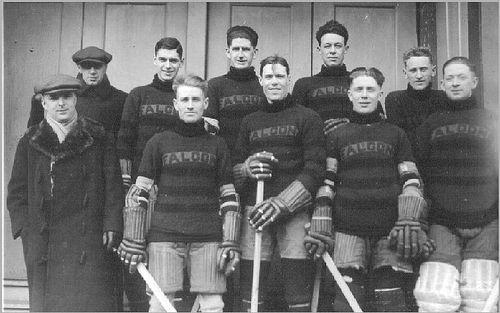 La première équipe de hockey à remporter une médaille olympique