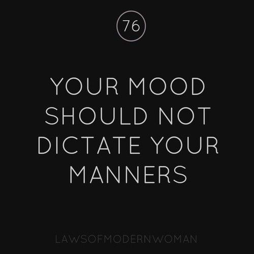 I wish everyone lived like this. It would be a much better place. Moods and manners.