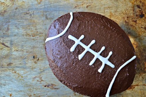 How to make a football cake without a speciality pan - PartySavvy Blog