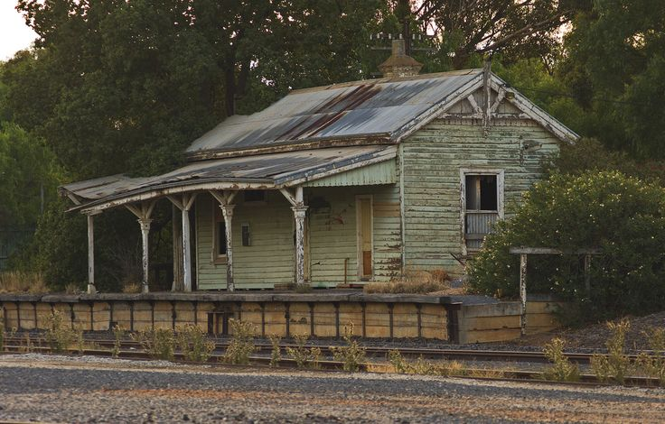 Old disused railway station in Boort, Victoria