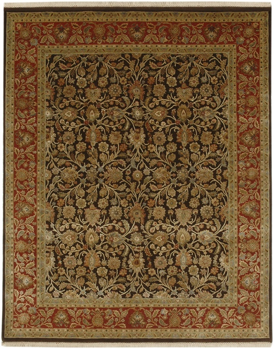 This Is A Rich Black And Red Wool Hand Knotted Traditional Style Oriental Rug