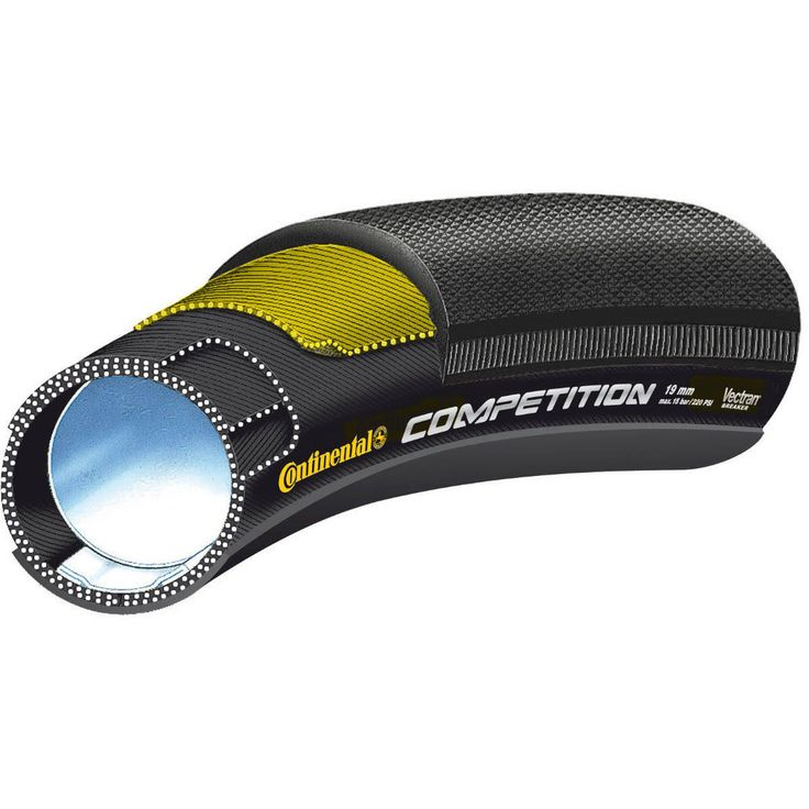 "Continental Competition Vectran Tubular Road Bike Tyre 28"" x 22mm"