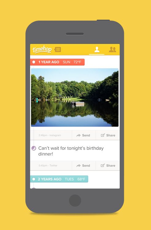 Pinterest's @christinecassis says Timehop is the ultimate app for throwback Thursday.