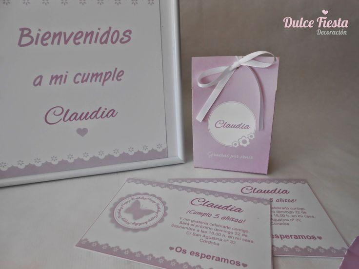 Dulce Fiesta Decoración: Kit imprimible Mariposas