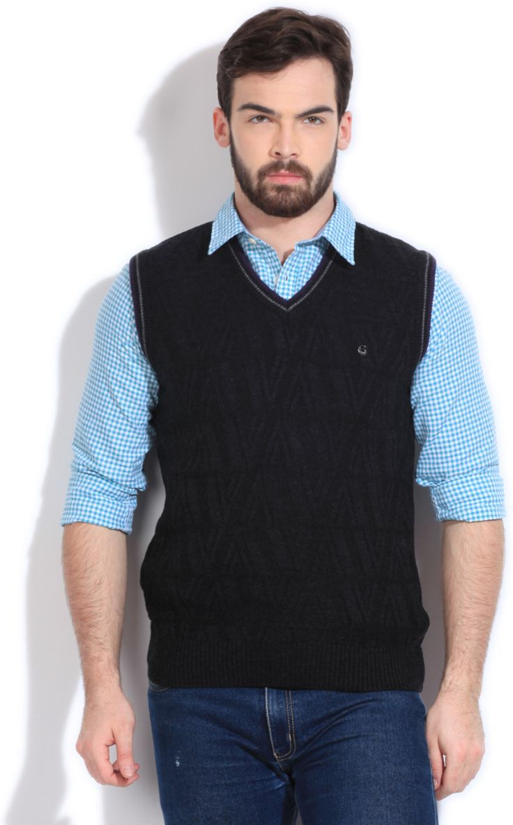 Integriti Solid V-neck Casual Men's Sweater  #winter #jackets #checkered #fashion #integritifashion #sweaters