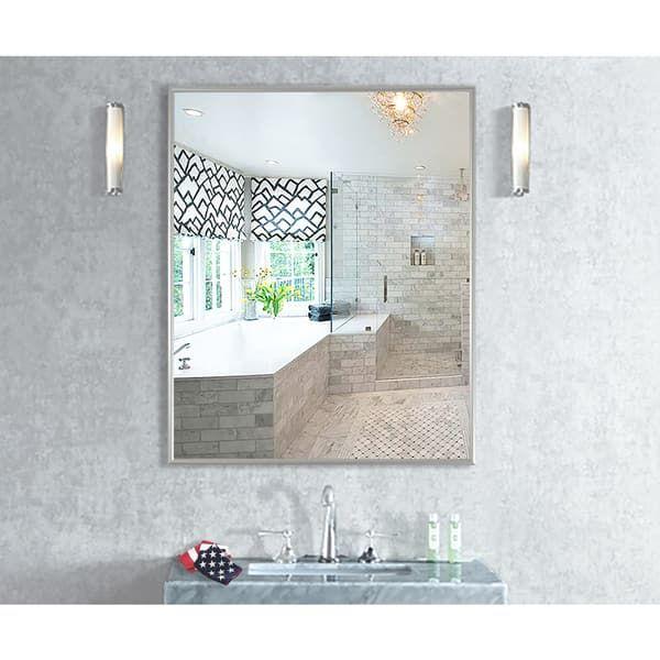 American Made Rayne Charlie Satin Silver Wall Mirror