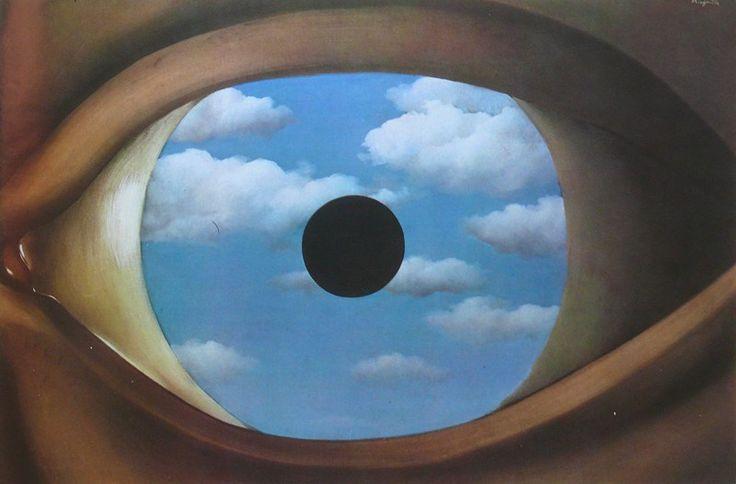 Ren magritte le faux miroir 1928 ren magritte et for Magritte le faux miroir
