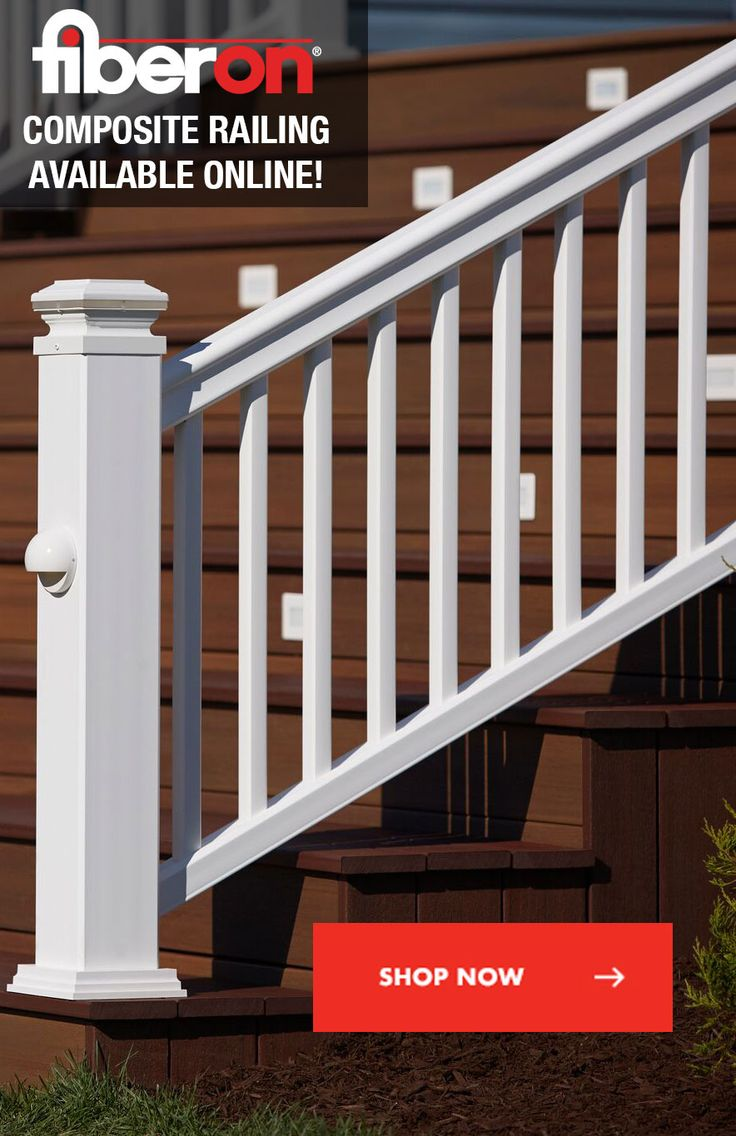 46 best fiberon railing images on pinterest railings lowes and whats more painful than a splinter from your old wood railing spending your weekend repainting baanklon Images