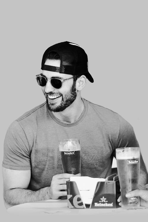 Chris Evans and beer