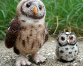 Needle Felted Owl Buddies