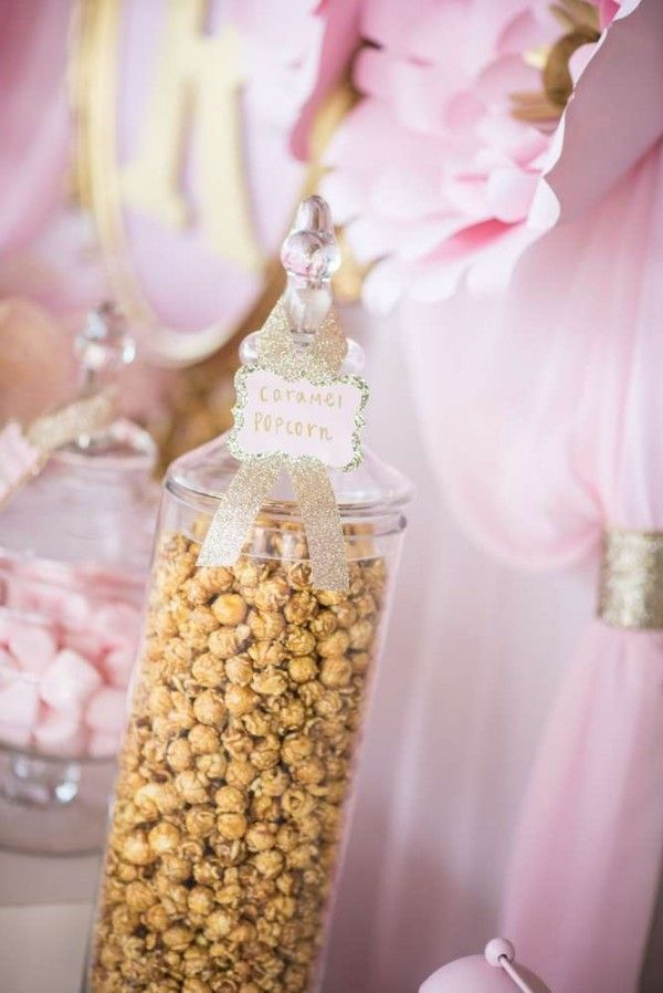 Shimmering-Pink-And-Gold-Baby-Shower-Popcorn | Baby Shower ...