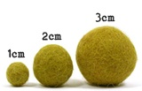 Different sizes of felt balls for purchase