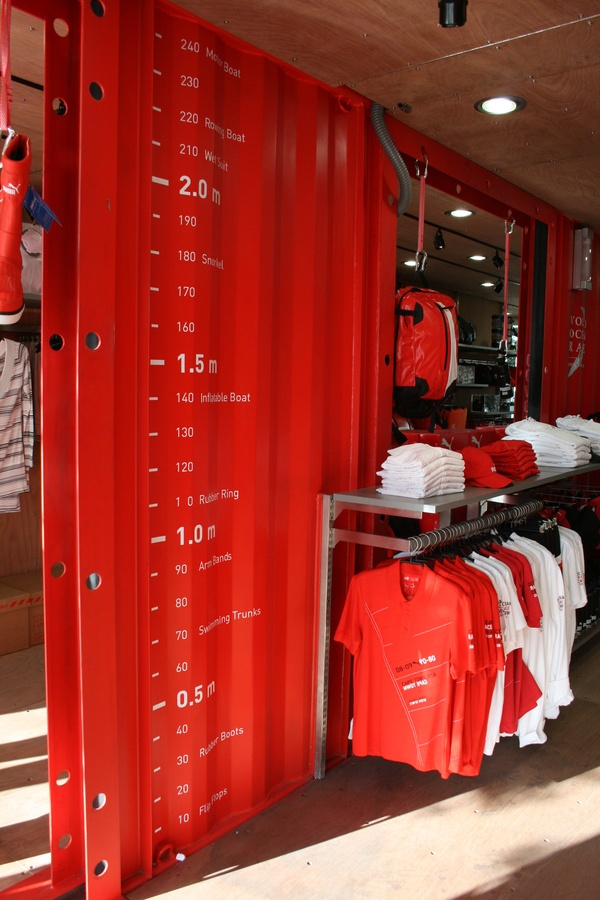 PUMA Shipping Container Store  This would be an interesting first floor / quilt shoppe idea for my container home (dream)