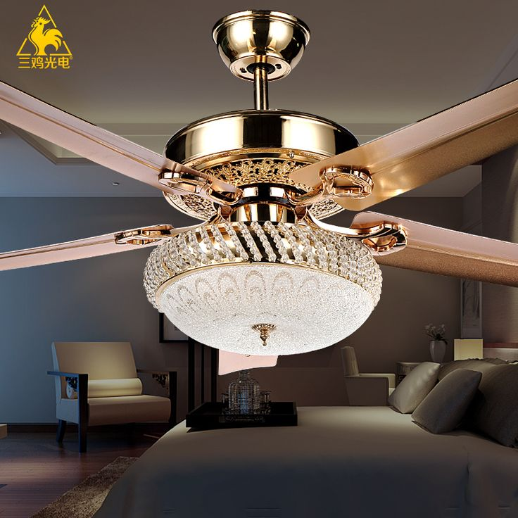 Three Chicken Photoelectric Luxury Decorative Crystal Chandeliers Living Room Lights Bedroom