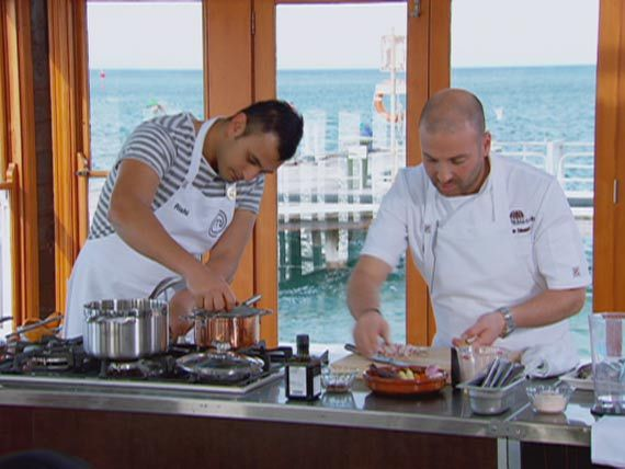 George asks Rishi to be his helper during his dish demonstration