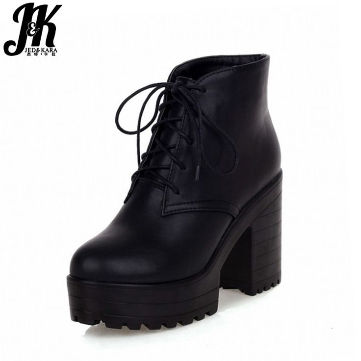 HooH Femmes Lace Up Platform Matte Stiletto Martin Boots-Bleu-35 E1MNA