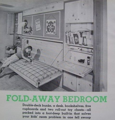 Fold Away Bed Ideas: How To Build Single Or Double Bunk Bed Murphy FOLD-AWAY
