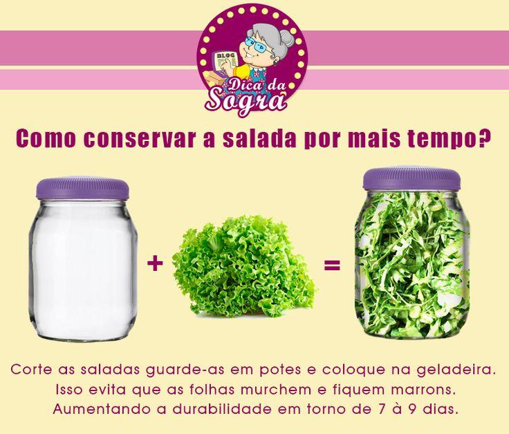 Conserve suas saladas fresquinhas por mais tempo e sem risco de murchar ou escurecer as folhas.