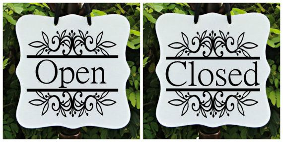 Open Sign Amp Closed Sign Double Sided Business Sign By