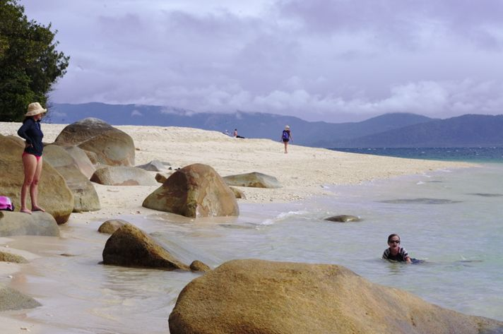 Nudey Beach, one of the most photographed beaches in Queensland has squeaky white sand and is a great place to snorkel
