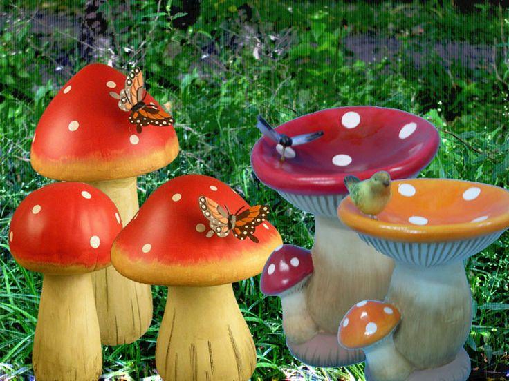 decoracin de interiores ideas para decorar y adornar el jardn hongo pinterest ideas para garden art and yards
