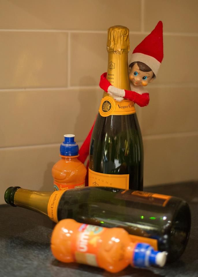 Okay you can have the fruit shoots, but hands of my champagne!