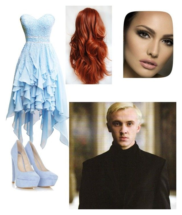yule ball with Draco by daniellabramhall on Polyvore featuring INDIE HAIR