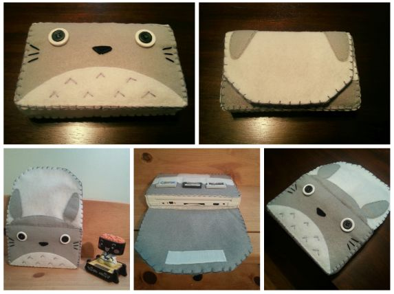 Nintendo 3DS XL Totoro case! Can also be made for the 3DS.  https://www.etsy.com/listing/194445816/totoro-nintendo-3ds-case?
