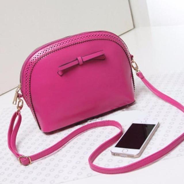 Women PU Leather Handbag Candy 6 Color Girl's Shoulder Bags Tote Satchel Women shoulder bags sacs a bandouliere #Y5