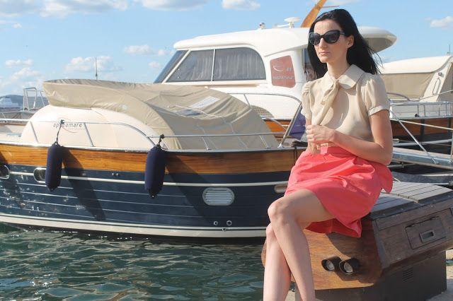 Twoja Akademia Piękna: Saint - Tropez - miejski look/sukienka z łączonych...