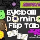 Halloween Math Interactive Activity-Teach your students all about commutative property with these Halloween themed domino eyeball flip tabs! The ey...