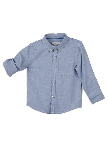 Pumpkin Patch -  - aiden shirt - S5EB16001 - oxford blue - 0-3m to 12
