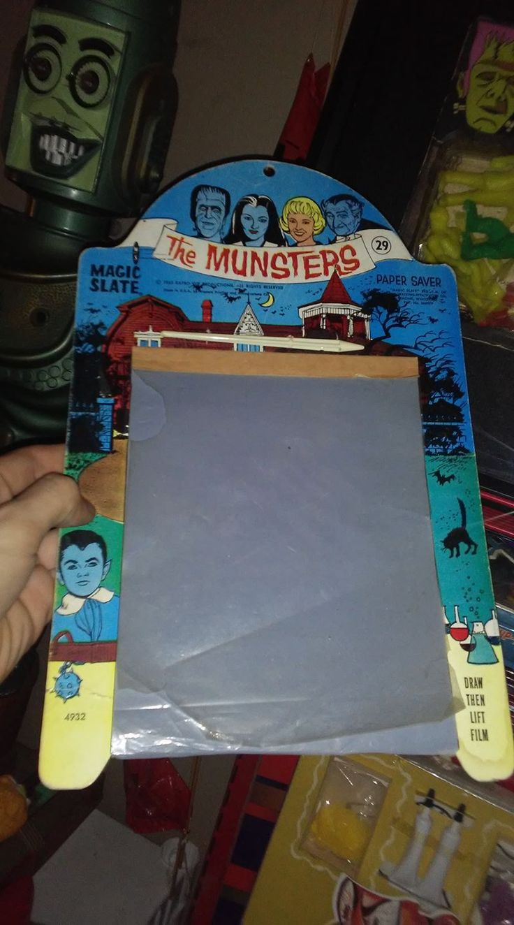 """""""The Munsters"""" Magic Slate !!! #1960s .....#vintage #toys #games #midcentury #retro #toycollector #toys #vintagetoy #toypictures #toyworld #toycommunity #monters #horror #collect"""