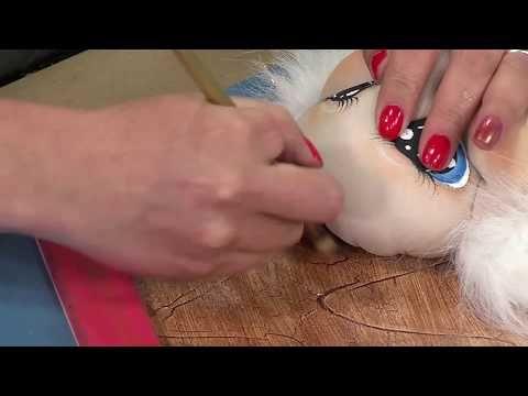 Como Hacer Facciones para Rostro de Papa Noel- HomeArtTv por Juan Gonzalo Angel - YouTube